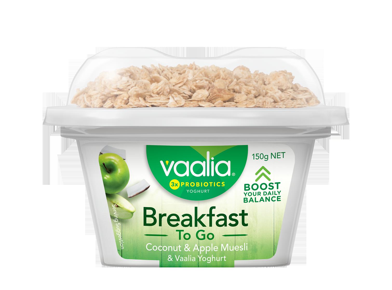 Vaalia Breakfast To Go 150g - Coconut Apple Muesli