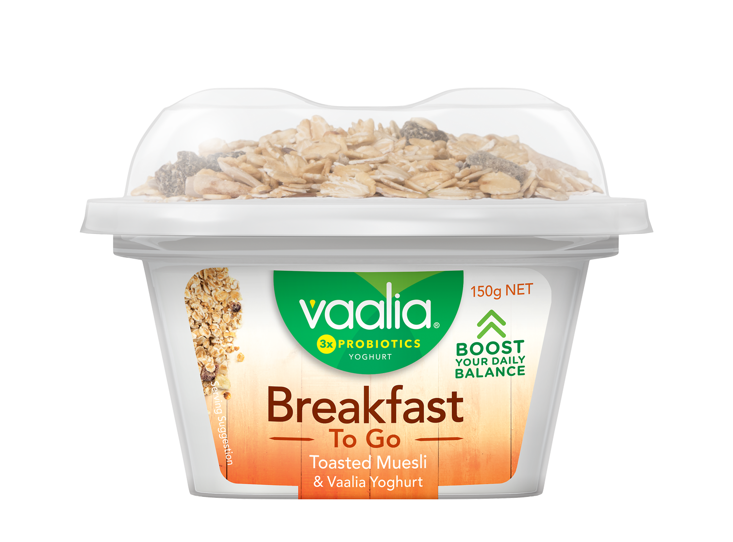 Vaalia Breakfast To Go 150g - Toasted Muesli